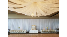 Image of a Ceiling Draping Starburst 40FT Panels (82 ft wide)