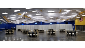 Image of a Ceiling Draping Swag Style 20 ft Panels