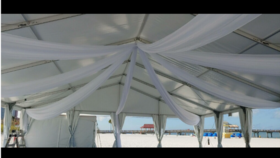 Image of a Ceiling Draping Swag Style Starburst 40ft Panels