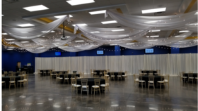 Image of a Ceiling Draping Swags Style 40 ft Panels