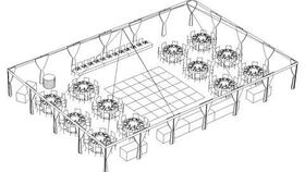 Image of a 10 - Frame Tent 40x50