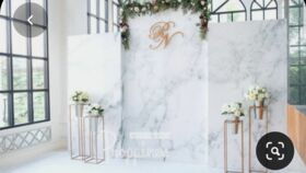 Image of a 01 - Faux Marble Three Piece Backdrop