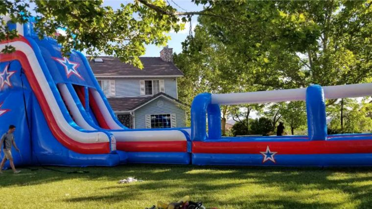 Picture of a Patriot Water Slide