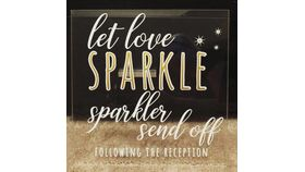 "Image of a Acrylic Sign ""Love Sparkles"""