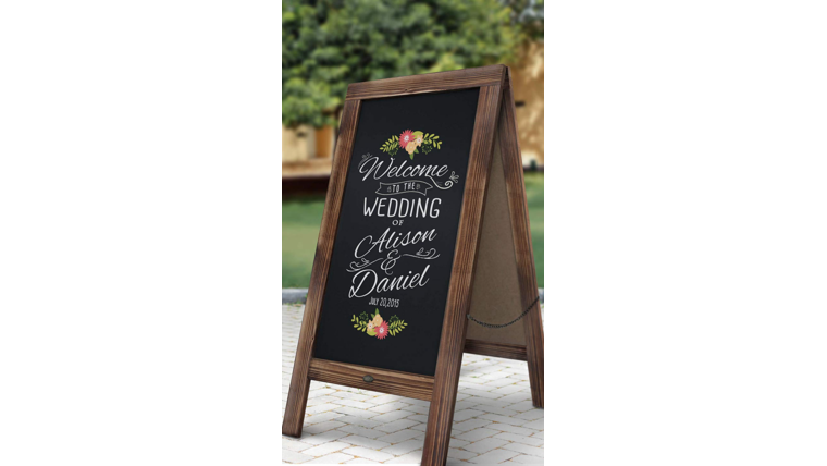 Picture of a A-Frame Chalkboard