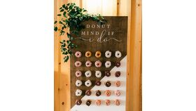 Image of a 2 colored Donut Wall