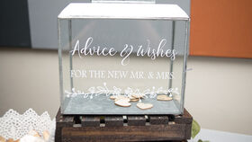 Image of a Galvanized Rimmed Advice and Wishes Box