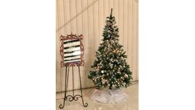 Image of a 6.5' Flocked Christmas Fir Tree