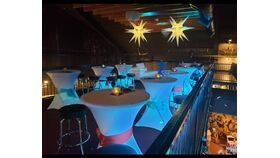 Image of a Lighted Spandex Cocktail Table