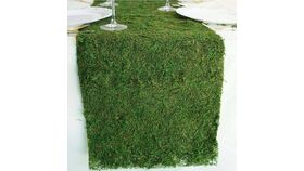"Image of a Faux Natural Grass Table Runner(12"" x 108"")"