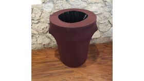 Image of a Brown Spandex Trash Can Cover