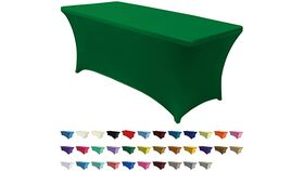 Image of a 6' Bright Green Spandex Table Cover