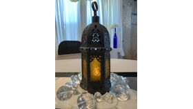 """Image of a 8""""  Black Moroccan Style Lanterns"""