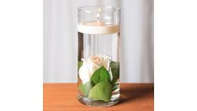 """Image of a 10"""" Clear Glass Vase"""