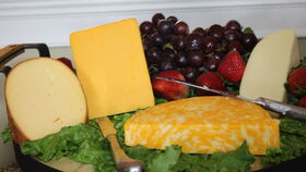 Image of a Cheese and Fruit Display
