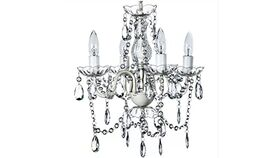Image of a Classy Lighted &  Beaded Crystal Chandelier-Medium