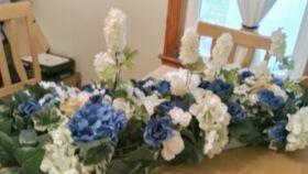 "Image of a Blue/White Floral Flower Arrangement 36"""