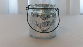 "Image of a Mercury Glass Vases 5"" w/ Handle"