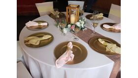 Image of a Gold Bling Napkin Wrap