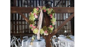Image of a Large Decorated Grape Vine Wreath