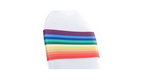 Image of a Multicolored Rainbow Spandex Chair Sash
