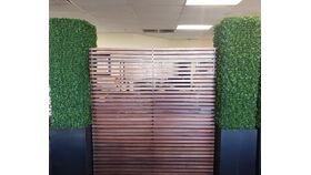 Image of a 8' x 8' Wooden Slatted Backdrop