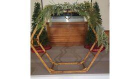 Image of a Double Oak Hexagon 8.5' Wedding Arch