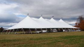 Image of a 60x120 Single Pole Engineered Pole Tent Tops (30/30/30/30)