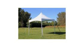 Image of a 10 x10 F&C High Peak White tent