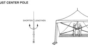 Image of a Center Pole Century 20x20 (10ft)