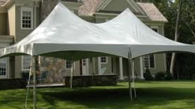 Picture of a 10 x 40 Tent