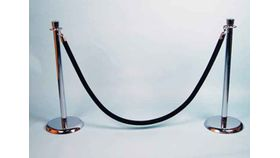 Image of a Rope- Stanchion- Black