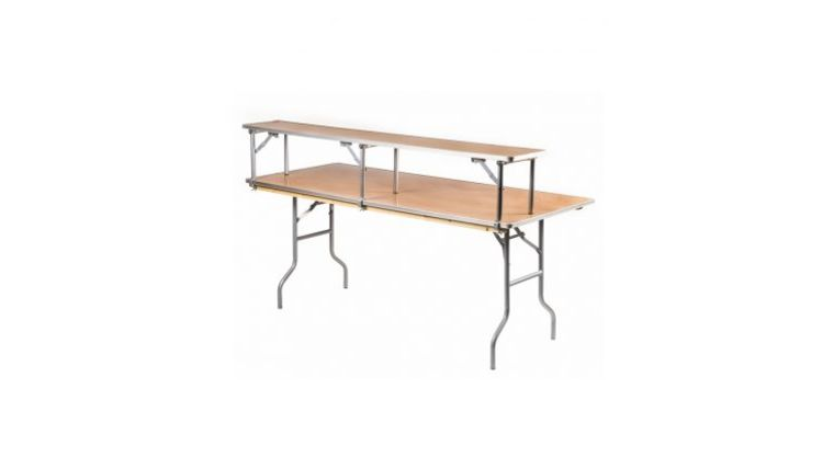 Picture of a 6' bar - 6x30 tables with bar top riser
