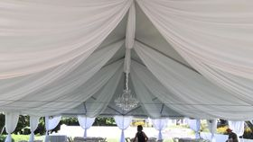 Image of a Fabric ceiling swags- Ocean Cliff