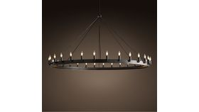 Image of a Carnegie Iron Ring Chandelier, 60""