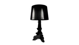 Image of a Black Table Lamp, with Shade