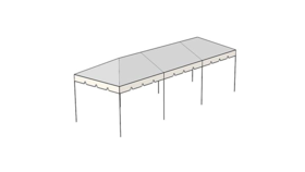 Image of a 10 x 30 Frame Tent