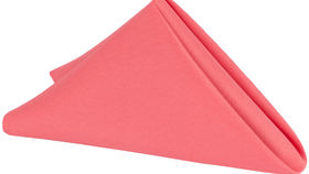 """Image of a 20"""" x 20"""" Coral Napkins"""