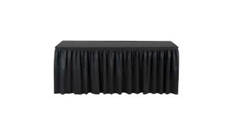 Picture of a 12' Black Table Skirt