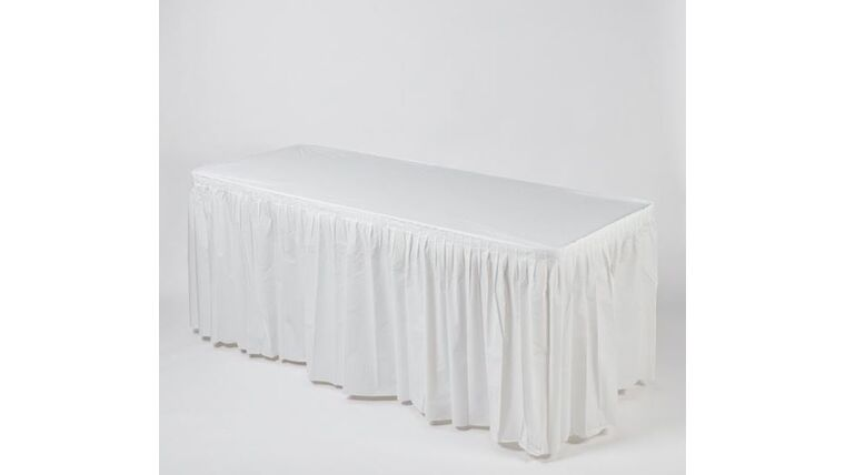 Picture of a 13' WHITE Kwik Cover Skirt