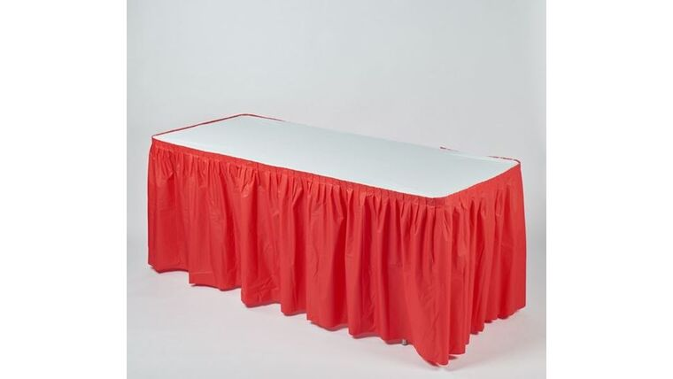 Picture of a 13' RED Kwik Cover Skirt
