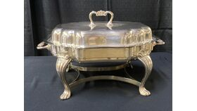 Image of a 4 1/2 QT SERP ST SILVER CHAFER