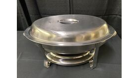 Image of a 6 QT OVAL STAINLESS CHAFER