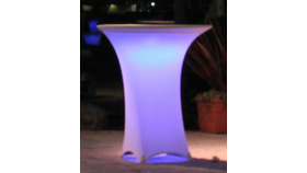 "Image of a Glow 36"" x 40""H LED Cocktail Table"