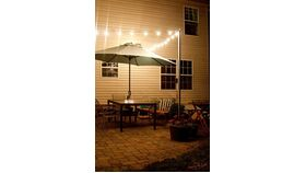 """Image of a 2""""D Metal Pole for Bistro Lights"""