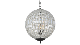 "Image of a 18"" Round - Dark Bronze Olivia Chandelier Crystal Light"
