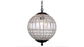 "Image of a 12"" Round - Dark Bronze Olivia Chandelier Crystal Light"