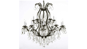 """Image of a 32""""X32"""" BLACK CHANDELIER"""