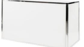 Image of a Avenue Bar- White Acrylic/ Chrome