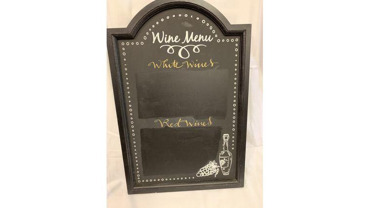 Picture of a Wine Menu Chalkboard (I)